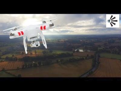 Drone à la campagne